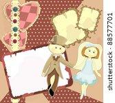 beautiful wedding card in... | Shutterstock . vector #88577701
