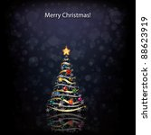 abstract christmas greeting... | Shutterstock .eps vector #88623919