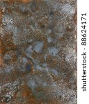 picture painted by me, named Corrosion 5. It shows a abstrackt modified corroded and tarnished metallic surface - stock photo