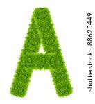 green grass letter a isolated | Shutterstock . vector #88625449
