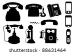 Set Of Different Telephones