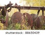 Antique Farming Equipment Left...