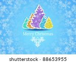 merry christmas greeting card | Shutterstock .eps vector #88653955