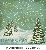 Vector Vintage Postcard With...