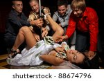 crazy bachelor's party in strip ... | Shutterstock . vector #88674796