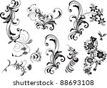 floral ornament elements... | Shutterstock .eps vector #88693108