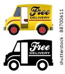 delivery truck. | Shutterstock .eps vector #88700611