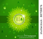 Vector biofuel background. - stock vector