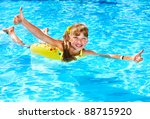 children sitting on inflatable... | Shutterstock . vector #88715920