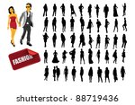 high quality posing silhouettes.... | Shutterstock .eps vector #88719436
