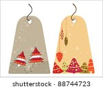 set of christmas theme concept... | Shutterstock .eps vector #88744723