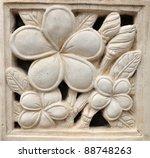 Stone Plumeria Craft Art Desig...