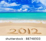 Numbers 2012 On Beach   Concep...
