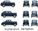 retro gangster car  1930 40th . ... | Shutterstock .eps vector #88748944