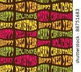 seamless christmas background... | Shutterstock .eps vector #88751683