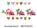 santa claus and calendar masks  ... | Shutterstock .eps vector #88755625
