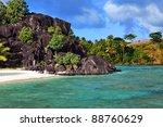 black rocks. bora bora....   Shutterstock . vector #88760629