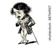 a french gentleman   vintage...   Shutterstock .eps vector #88764907