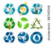 Recycling Symbols Set