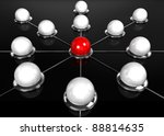 Abstract conception of network and communication - 3d rendering - stock photo