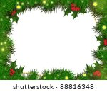 christmas illustration with pine | Shutterstock . vector #88816348