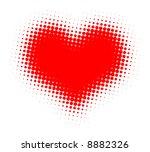 valentine heart halftone vector ...