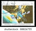cuba   circa 1984  an airmail... | Shutterstock . vector #88826755