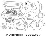 illustration of a pirate set... | Shutterstock .eps vector #88831987