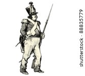 the soldier   vintage engraved...   Shutterstock .eps vector #88835779