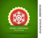 christmas snowflake applique... | Shutterstock .eps vector #88838434