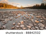 Low Shot Of Pebbles And Stones...