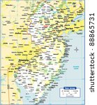 new jersey state map | Shutterstock .eps vector #88865731