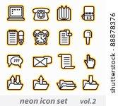 neon icon set vector  cmyk  | Shutterstock .eps vector #88878376