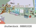 interior travel | Shutterstock . vector #88881028