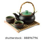 Chinese Brown Teapot And...