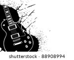 electric vector guitar on white ... | Shutterstock .eps vector #88908994