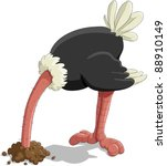 The Ostrich Has Buried A Head...