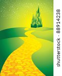 yellowbrick road leading to... | Shutterstock .eps vector #88914238