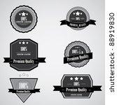 premium quality vector labels | Shutterstock .eps vector #88919830