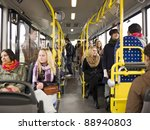 large group of people going by... | Shutterstock . vector #88940803