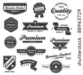 set of vintage retro premium... | Shutterstock . vector #88963729