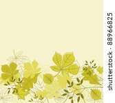Autumnal leaves on background for seasonal design. Vector version also available in gallery - stock photo