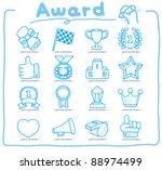 pure series   hand drawn award... | Shutterstock .eps vector #88974499
