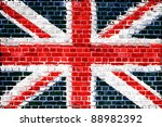 an image of the union jack flag ... | Shutterstock . vector #88982392