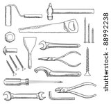tools vector set | Shutterstock .eps vector #88992238