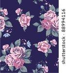 vintage rose seamless pattern | Shutterstock .eps vector #88994116