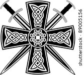 celtic cross with the crossed... | Shutterstock .eps vector #89005156