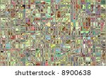 tiles reflecting retro colors...   Shutterstock . vector #8900638
