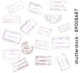 passport stamps background for... | Shutterstock . vector #89008687