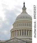 Stock photo united states capitol building in washington dc with american flag 89035357